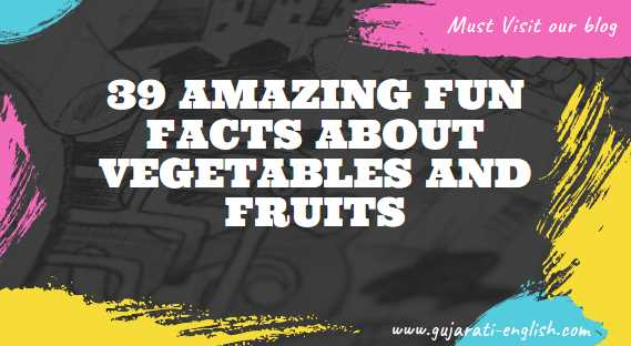 Fruits and Vegetables Name in Gujarati and English